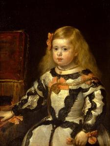 Portrait of the Infanta Maria Marguerita, Daughter of Felipe Iv of Spain, 1654 by Diego Velazquez