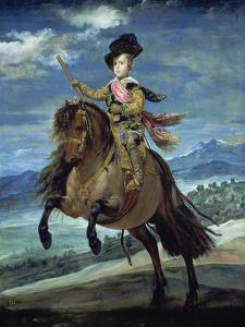 Prinz Balthasar Carlos Zu Pferde by Diego Velazquez