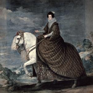 Queen Isabella of Bourbon, 1629-1635 by Diego Velazquez