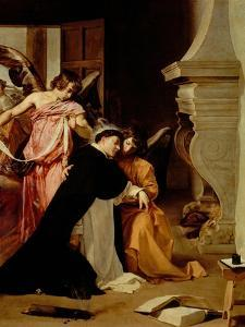 Saint Thomas Aquinas Comforted by Angels by Diego Velazquez