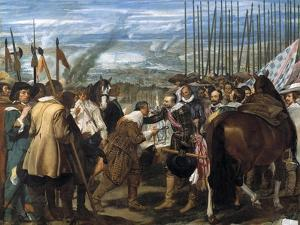 The Surrender of Breda (Las Lanza), 1635 by Diego Velazquez