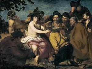 The Triumph of Bacchus or the Drunkards by Diego Velazquez