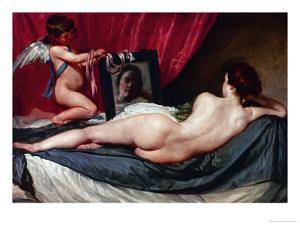 Venus and Cupid (Venus of the Mirror or Rockeby Venus) by Diego Velazquez