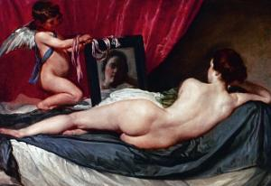 Venus and Cupid (Venus of the Mirror or Rockeby Venus) by Diego Velazquez