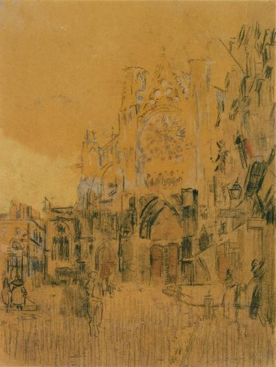 Dieppe, Study No. 2; Facade of St Jacques-Walter Richard Sickert-Giclee Print