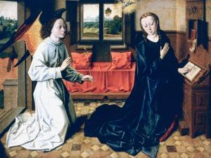 The Annunciation, 1465-1470 by Dieric Bouts