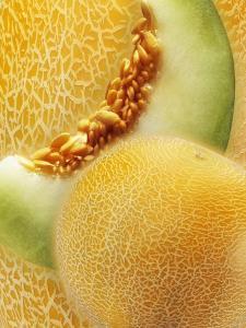 Artistically Arranged Still Life with Galia Melons by Dieter Heinemann