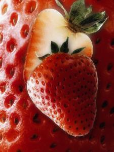 Halved Strawberry by Dieter Heinemann