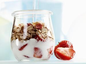 Yoghurt with Muesli and Strawberries by Dieter Heinemann