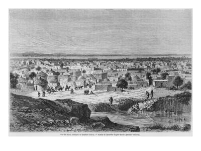 View of Kano, Nigeria, from 'Travels and Discoveries in North and Central Africa' by Heinrich Barth