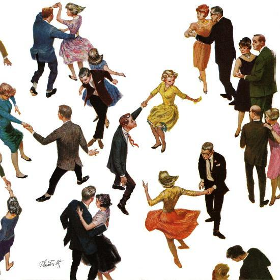 """Different Dancing Styles,"" November 4, 1961-Thornton Utz-Giclee Print"