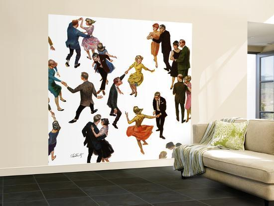 """""""Different Dancing Styles,"""" November 4, 1961-Thornton Utz-Wall Mural – Large"""
