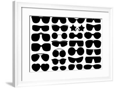Different Sunglasses-DeCe-Framed Art Print