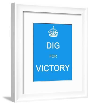 Dig for Victory--Framed Art Print