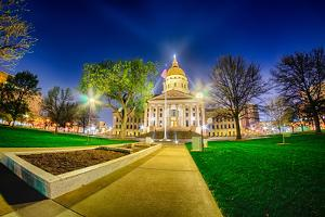 Topeka Kansas Downtown at Night by digidreamgrafix