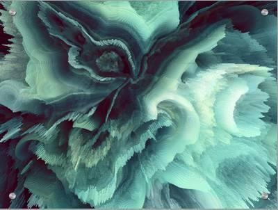 Digital Agate - Teal--Art on Acrylic