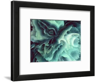 Digital Agate - Teal--Framed Art Print