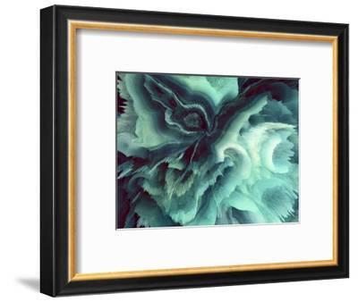 Digital Agate - Teal--Framed Giclee Print
