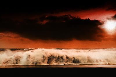 Digital Discord in Red.Jpg-Philippe Sainte-Laudy-Photographic Print