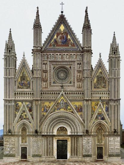 Digital Reconstruction of Facade of Orvieto Cathedral--Giclee Print