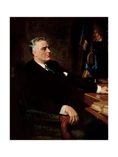 Digitally Restored American History Painting of President Franklin Roosevelt--Art Print
