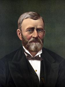 Digitally Restored Color Portrait of President Ulysses S. Grant