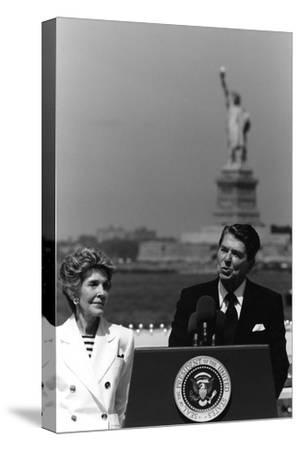 Digitally Restored Photo of President Ronald Reagan and Nancy Reagan