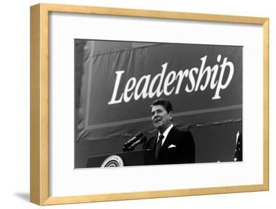 Digitally Restored Photo of President Ronald Reagan