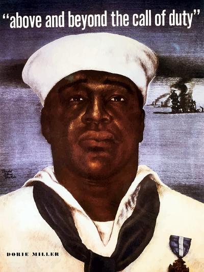 Digitally Restored Vector Image of Doris Dorie Miller, a Cook in the U.S. Navy-Stocktrek Images-Photographic Print