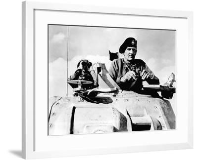 Digitally Restored Vector Photo of Field Marshal Bernard Law Montgomery in His Tank-Stocktrek Images-Framed Photographic Print