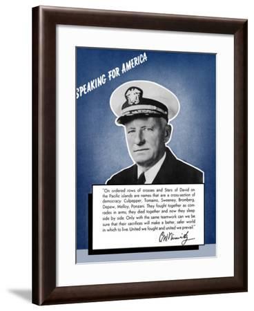 Digitally Restored War Propaganda Poster-Stocktrek Images-Framed Photographic Print