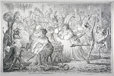 Dilettanti-Theatricals; or a Peep at the Green Room, 1803-James Gillray-Giclee Print
