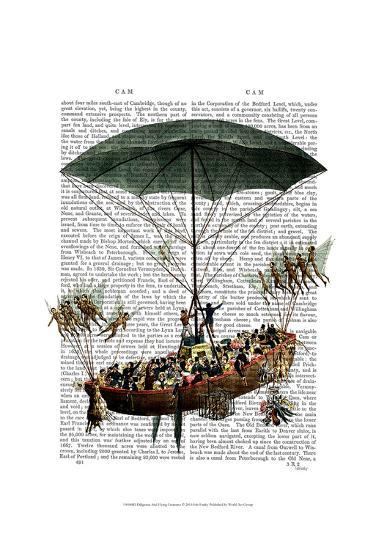 Diligenza And Flying Creatures-Fab Funky-Art Print