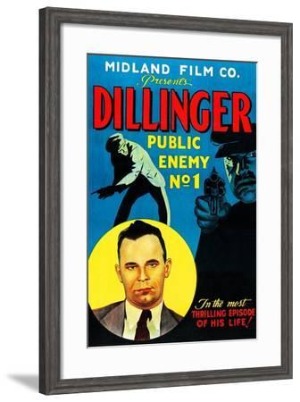 Dillinger: Public Enemy No.1--Framed Art Print