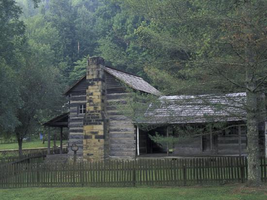Dillion Ahser Cabin, Red Bird, Kentucky, USA-Adam Jones-Photographic Print