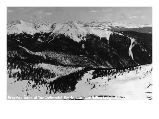 Dillon, Colorado - Arapahoe Basin at Continental Divide-Lantern Press-Art Print
