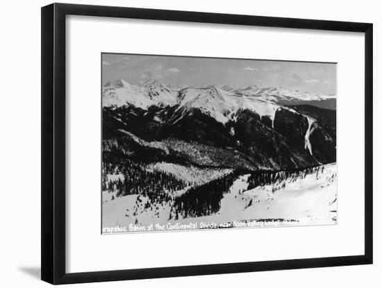 Dillon, Colorado - Arapahoe Basin at Continental Divide-Lantern Press-Framed Art Print
