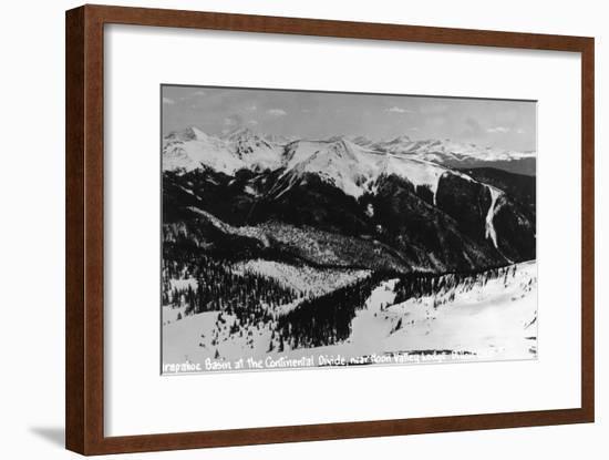 Dillon, Colorado - Arapahoe Basin at Continental Divide-Lantern Press-Framed Art Print