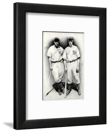 Dimaggio and Gehrig-Allen Friedlander-Framed Premium Giclee Print