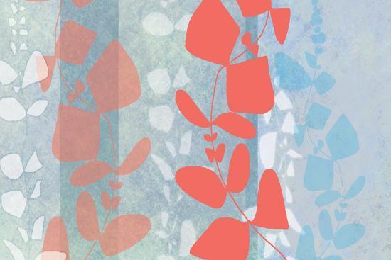 Dimensional Leaves-Jan Weiss-Art Print
