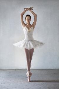 Ballerina Posing in Tutu on Points by Dimitri Otis