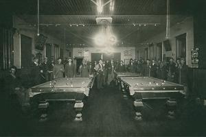 Dimly Lit Pool Hall