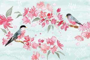Flowers and Feathers II by Dina June