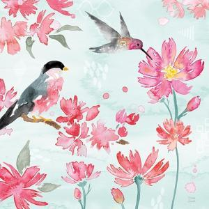 Flowers and Feathers III by Dina June