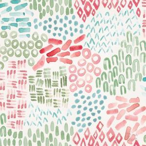 Flowers and Feathers Pattern IIIA by Dina June