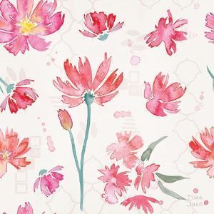 Flowers and Feathers Pattern IVA by Dina June