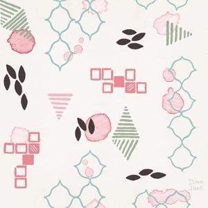 Flowers and Feathers Pattern VA by Dina June