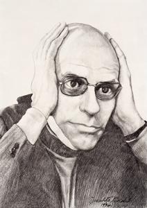 Michel Foucault, 1994 by Dinah Roe Kendall