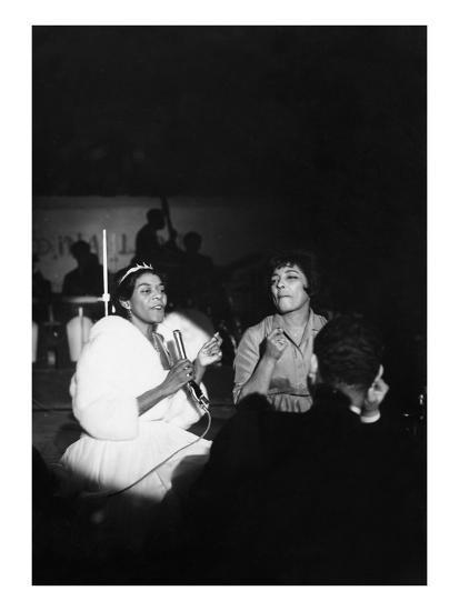 Dinah Washington, Carmen McRae - 1961-Isaac Sutton-Photographic Print