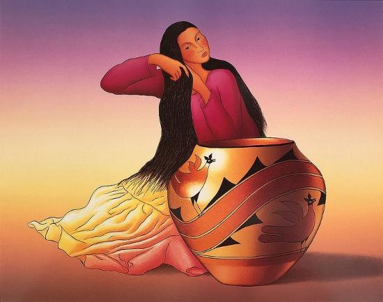 c53b630a154 Diné Woman Art Print by R. C. Gorman